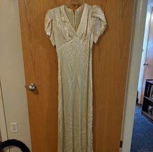 Vintage satin gown empire waist